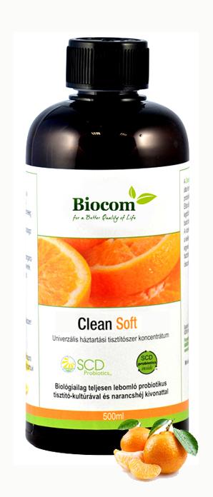 """ÖKONET BIO CLEAN A MINDENT TUDÓ TISZTÍTÓSZER Univerzális háztartási tisztítószer koncentrátum. Biológiailag teljesen lebomló probiotikus tisztító-kultúrával és narancshéj kivonattal. Tisztaság természetes probiotikumok segítségével Új élettel teli, intenzív narancsillatot áraszt, tetszetős külsővel – és még hatékonyabb! Röviden így lehetne jellemezni az Ökonet CLEAN most megjelent SOFT változatát. Akár töményen, vagy mindössze 10%-os hígítással használva: felére csökkent a tisztítószerekre szánt költség, szinte minden felületre használható: fa, fém, csempe, üveg, sőt: függöny és kárpit, fugatisztítás: megszűnt a háziasszonyok rémálma, minden ragyog és a kezelt felület taszítja a port, jól működik penészes esetekben is, kiváló vízkőoldásra, érdemes vele mosogatni is, az autókozmetika nélkülözhetetlen kelléke, a klímaberendezésekben és szagelszívókban is elvégzi jótékony hatását, a lefolyóba kerülve is tovább dolgozik az anyag, így """"elhasználva"""" is folyamatosan megjeleníti előnyös tulajdonságait!"""