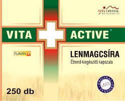 Vita+Active Lenmagcsíra kapszula flavin7