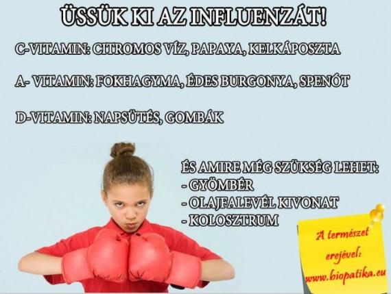 influenza ellen vitaminok