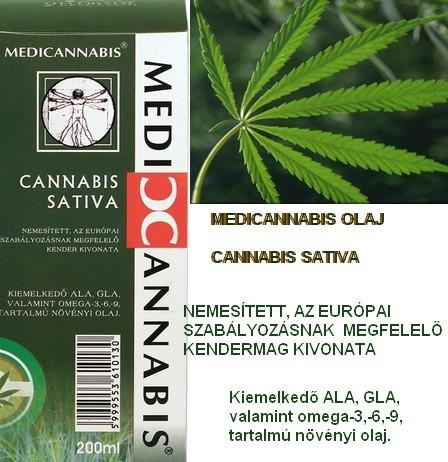 Cannabis Sativa Cannabionid Oil 200ml - Medicannabis olaj (200ml)