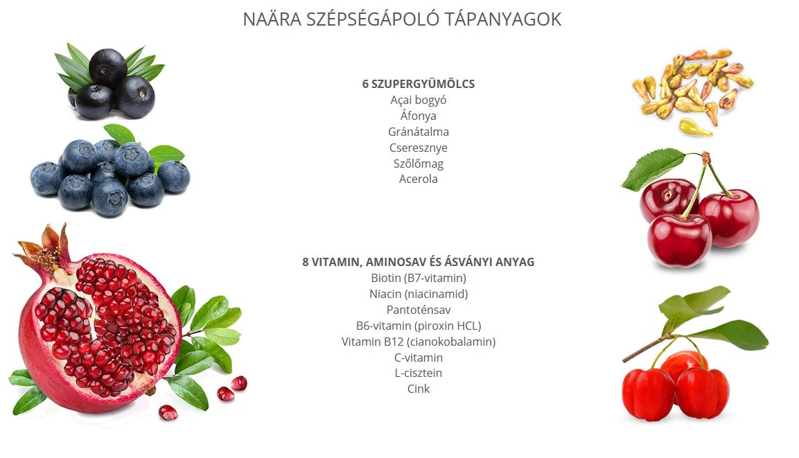 Naara Beauty Drink Collagénnel, vitaminokkal
