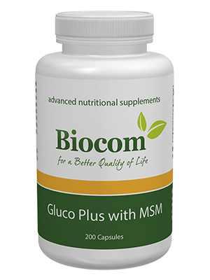 GLUCO PLUS WITH MSM glükozamin és a kondroitin-szulfát természetes kénvegyülettel -biocom