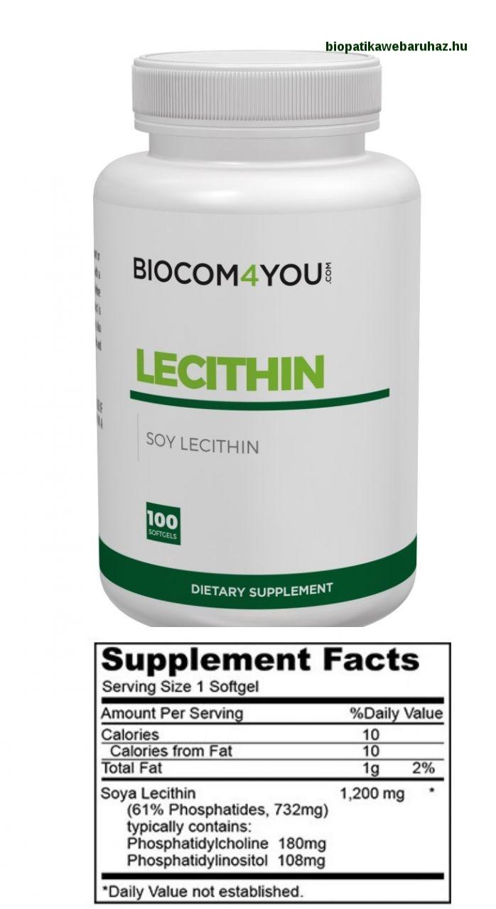 LECITHIN - Biocom - SZÍV ÉS MÁJVÉDŐ, TERMÉSZETES KOLESZTERINCSÖKKENTŐ