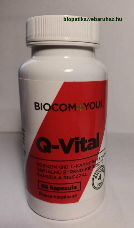 Q-VITAL, CARDIO HEALTH - Biocom - 100mg Q10 tartalommal