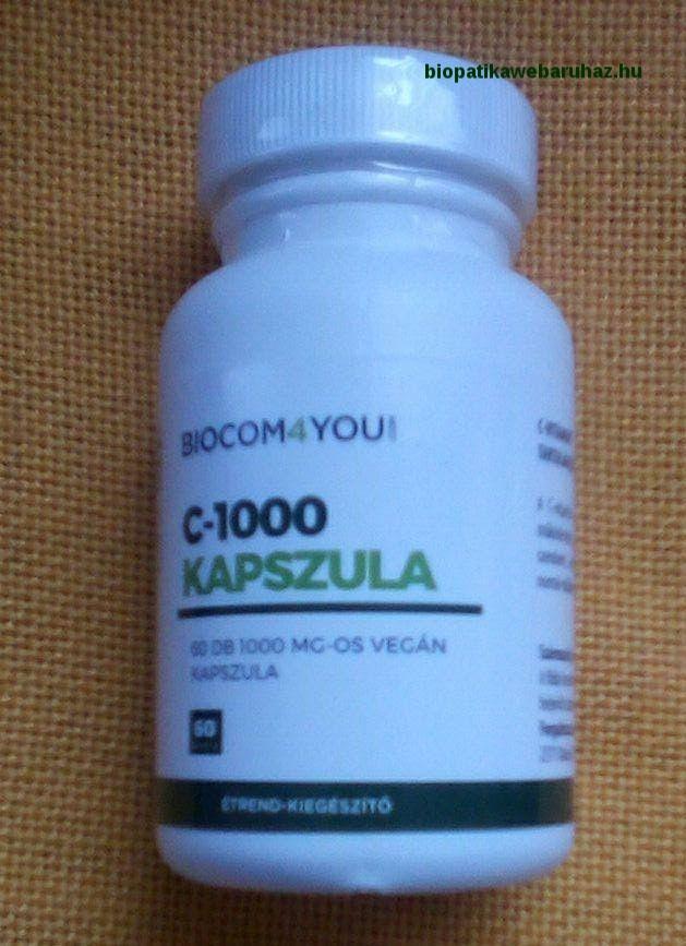C VITAMIN 1000 - Biocom - Vegan kapszula