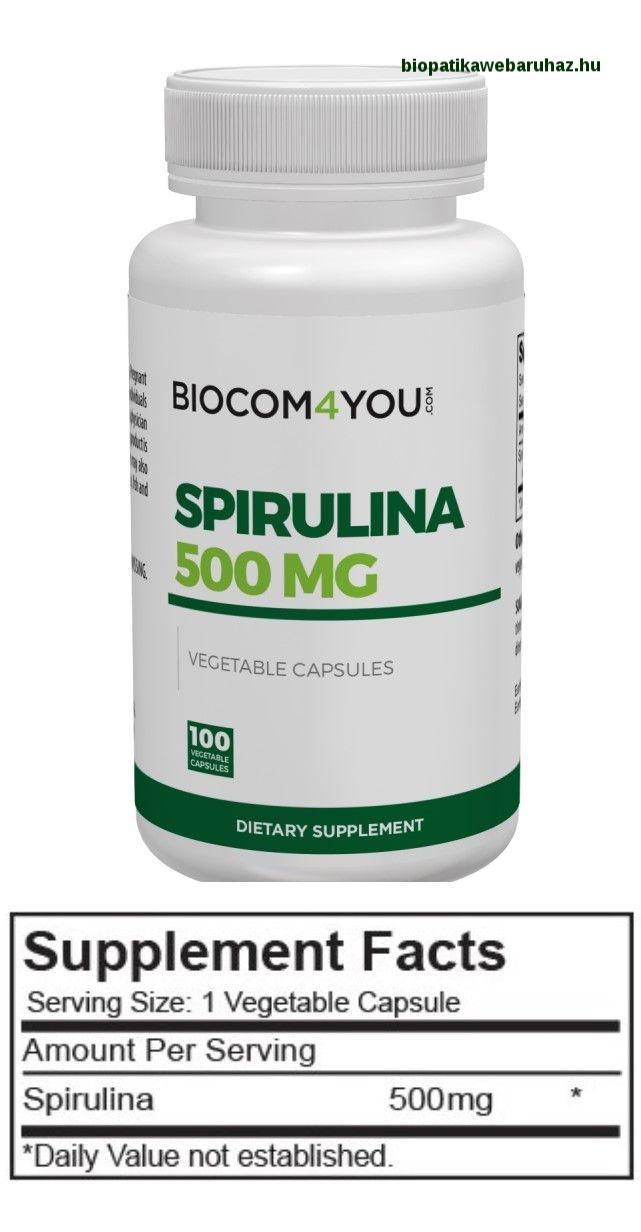 SPIRULINA ALGA - Biocom - ZÖLDALGA KAPSZULA