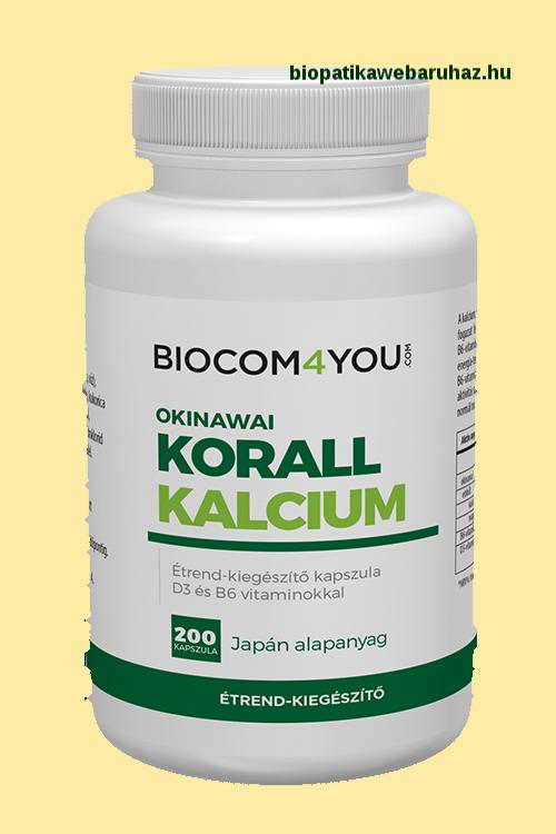 CORAL CALCIUM D3 VITMINNAL - OKINAWAI KORALLBÓL - 200 db-os KAPSZULA