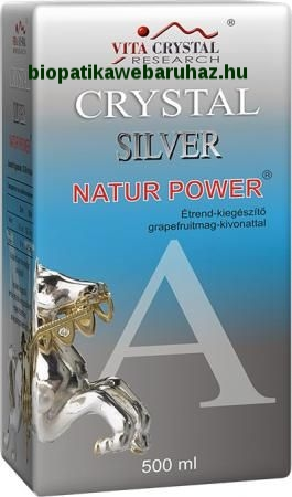 CRYSTAL SILVER NATUR POWER 500ml - EZÜST KOLLOID GRAPEFRUIT MAG KIVONATTAL