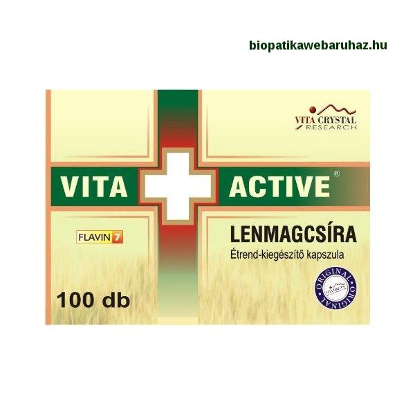 VITA+ACTIVE Lenmagcsíra kapszula (100db) KOLESZTERINVÉDŐ
