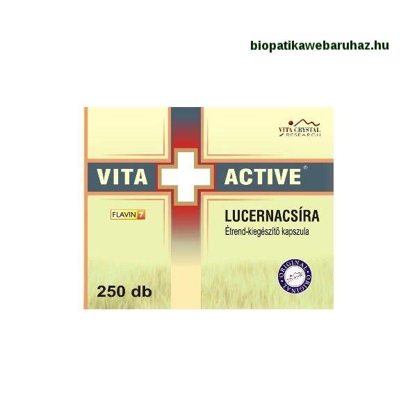 VITA+ACTIVE Lucernacsíra kapszula (250db) KÖSZVÉNY ELLEN
