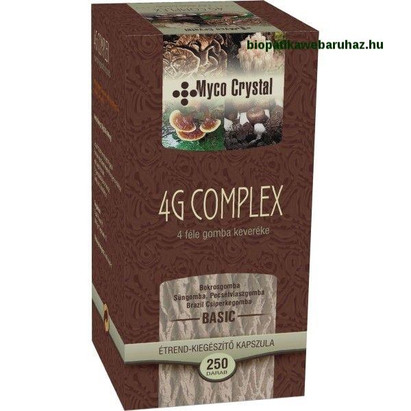 Myco Crystal 4G Basic Mix kapszula 250db - NÉGYFÉLE GYÓGYGOMBA