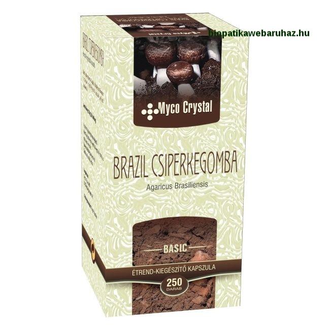 Myco Crystal Brazil csiperkegomba kapszula 250db - Mandulagomba
