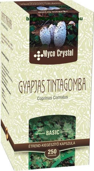 Myco Crystal Gyapjas tintagomba kapszula - CUKORBETEGSÉG ellen 250db