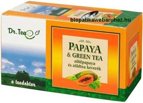 Papaya és Green tea, emésztés javító zöld tea