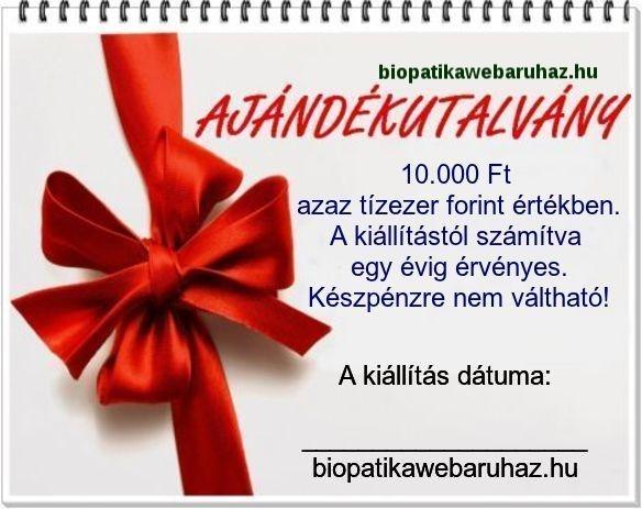 AJÁNDÉK UTALVÁNY 10.000 FT ÉRTÉKBEN