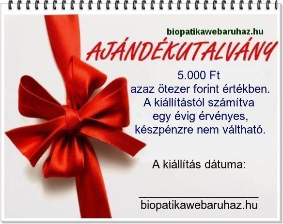 AJÁNDÉK UTALVÁNY 5.000 FT ÉRTÉKBEN