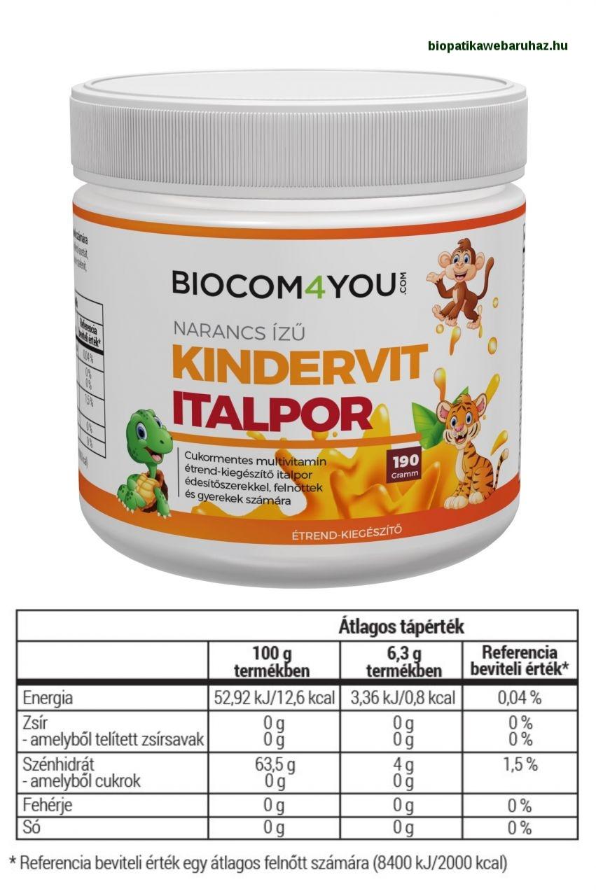 Kindervit - narancsízű italpor - biocom 4you