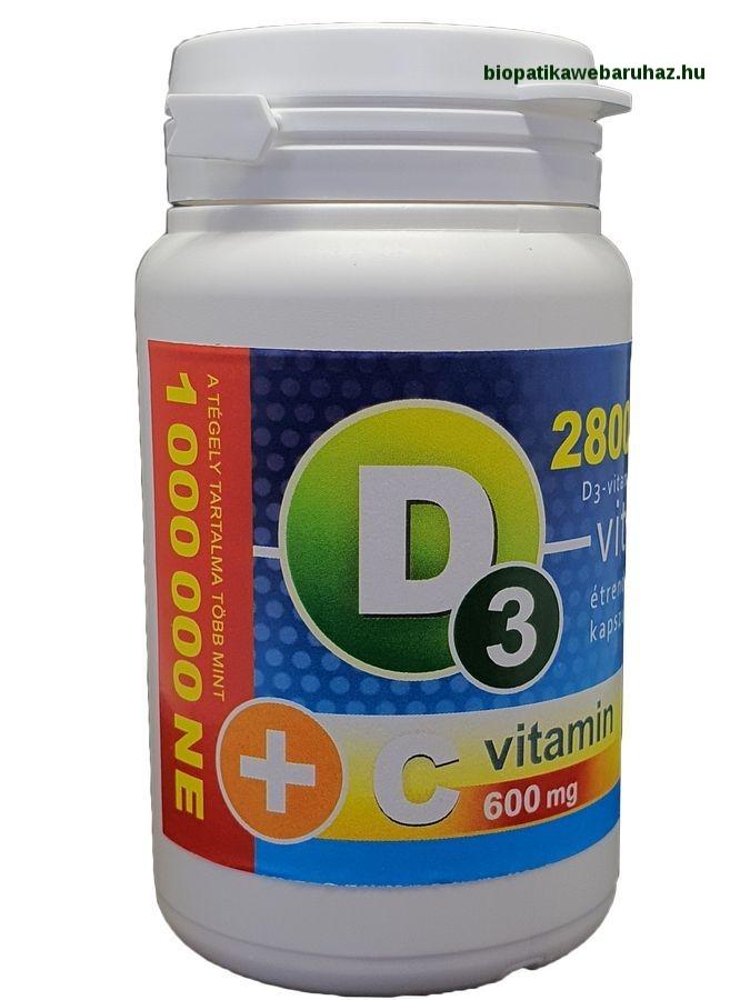 D3-vitamin 28 000 NE + C-vitamin 600 mg