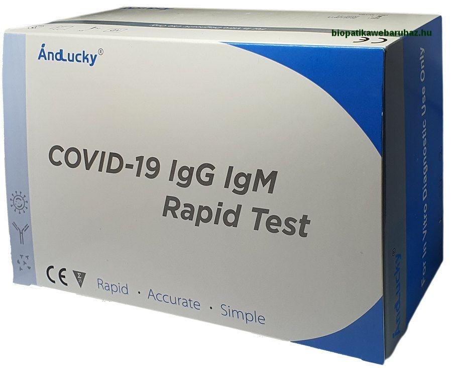 COVID-19 IgG/IgM Rapid kornavírus teszt